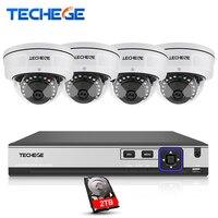 Techege 4CH POE System 4K POE NVR 4MP POE IP Camera Vandalproof 2592 1520 Night Vision