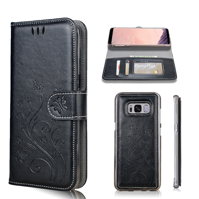 Lamocase Wallet Case For Samsung Galaxy S8 Plus Leather Patterned Cover For Samsung S8 Plus SM-G955F 2 in 1 Card Slot Phone Bags