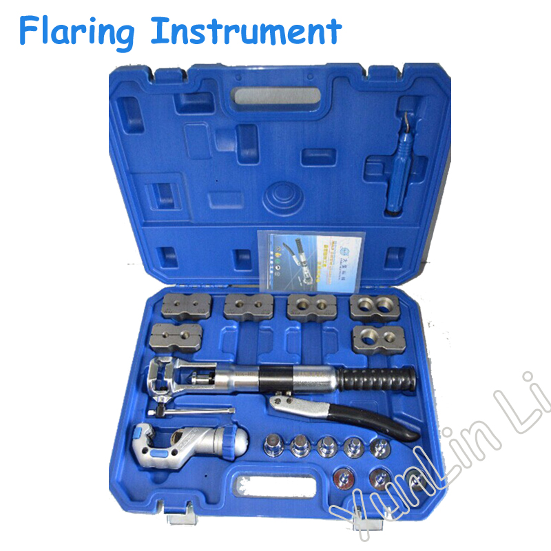Refrigerant Pipe Hydraulic Tool Expander & Flaring Instrument wk-400 over vtb 5b r410a new refrigerant combination tool r410 double table expander tube expander cutter