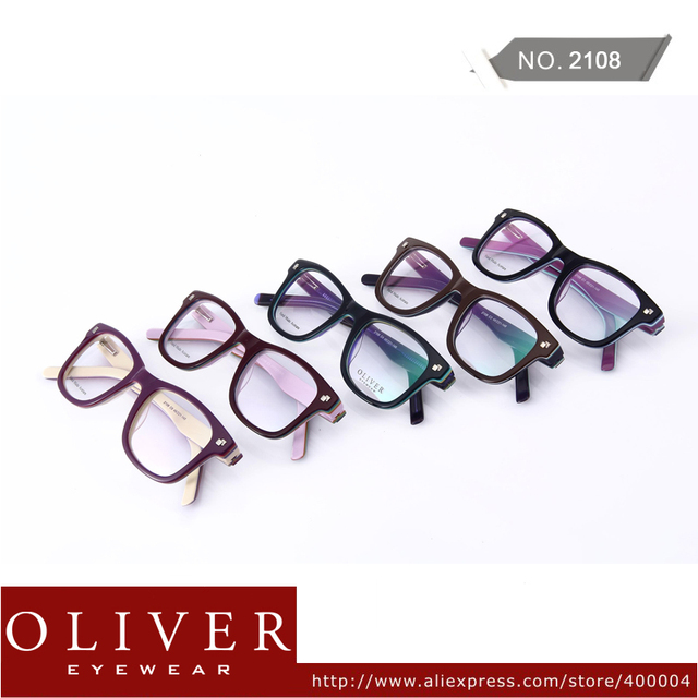 Wholesales!2013 New Arrival Multicolor Cool Optical Frame For Man Oliver Brand Eyeglasses Color Patchwork Eyewear 2108!Free Ship