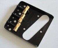 Wilkinson Black WTB Ashtray Vintage Style Compensated TL Guitar Bridge