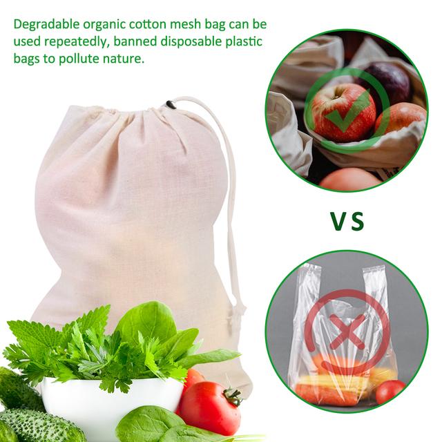 Reusable Mesh Shopping Bag 6 Pcs