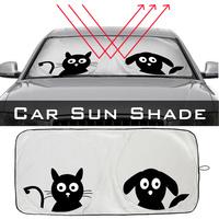 Front Cartoon Car Window Sunshade Universal Folding Medium   Auto   Sun Visor Windshield Block Cover