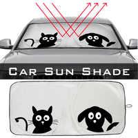 Vorne Cartoon Auto Fenster Sonnenschirm Universal Folding Medium Auto Sonnenblende Windschutzscheibe Block Abdeckung