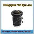 """DIY 8 Megapixel HD 2.5mm Ojo de Pez CCTV Lente del Montaje del CS de 8MP 2/3 """"IR F1.6 Ángulo de Visión Amplio de CCTV Analógico/IP Cámara Envío Gratis"""