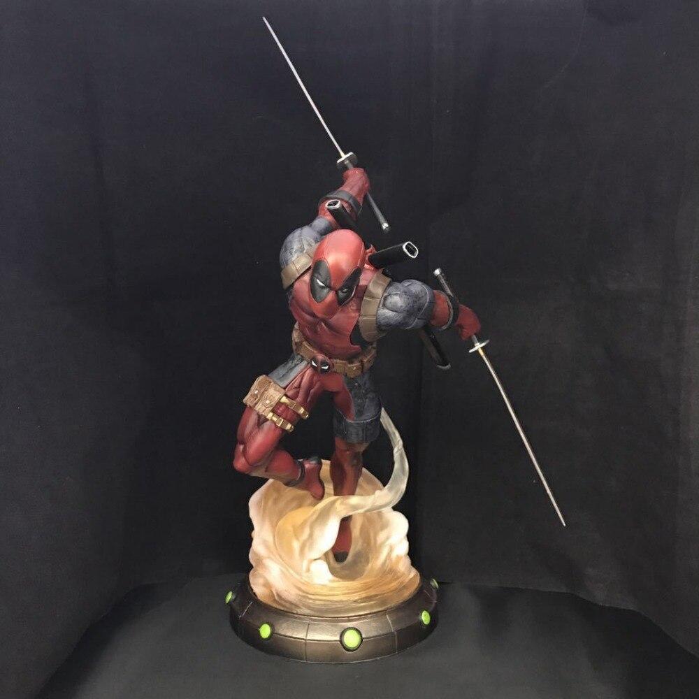 Deadpool Figure ARTFX + X HOMMES X-MEN Weapon X Wade Wilson GUERRE CIVILE Iron Man Wolverine 27 cm D'action DE PVC figure Modèle Jouet Cadeau