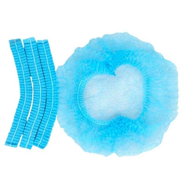 100 adet/takım Tek Kullanımlık Saç Duş Başlığı Olmayan Dokuma Pilili Anti Toz Şapka Otel Tedarikçiye Tıbbi/Gıda/Sınıf