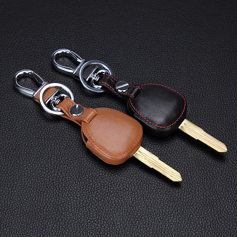 Image 4 - New design Genuine Leather cover wallet key remote case For Mitsubishi outlander ASX colt LANCER Grandis Pajero sport 2 buttons-in Key Case for Car from Automobiles & Motorcycles