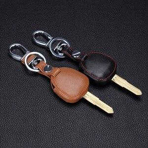 Image 4 - Yeni tasarım hakiki deri kılıf cüzdan bulucu uzaktan kumanda için Mitsubishi outlander ASX colt LANCER Grandis Pajero sport 2 düğmeler