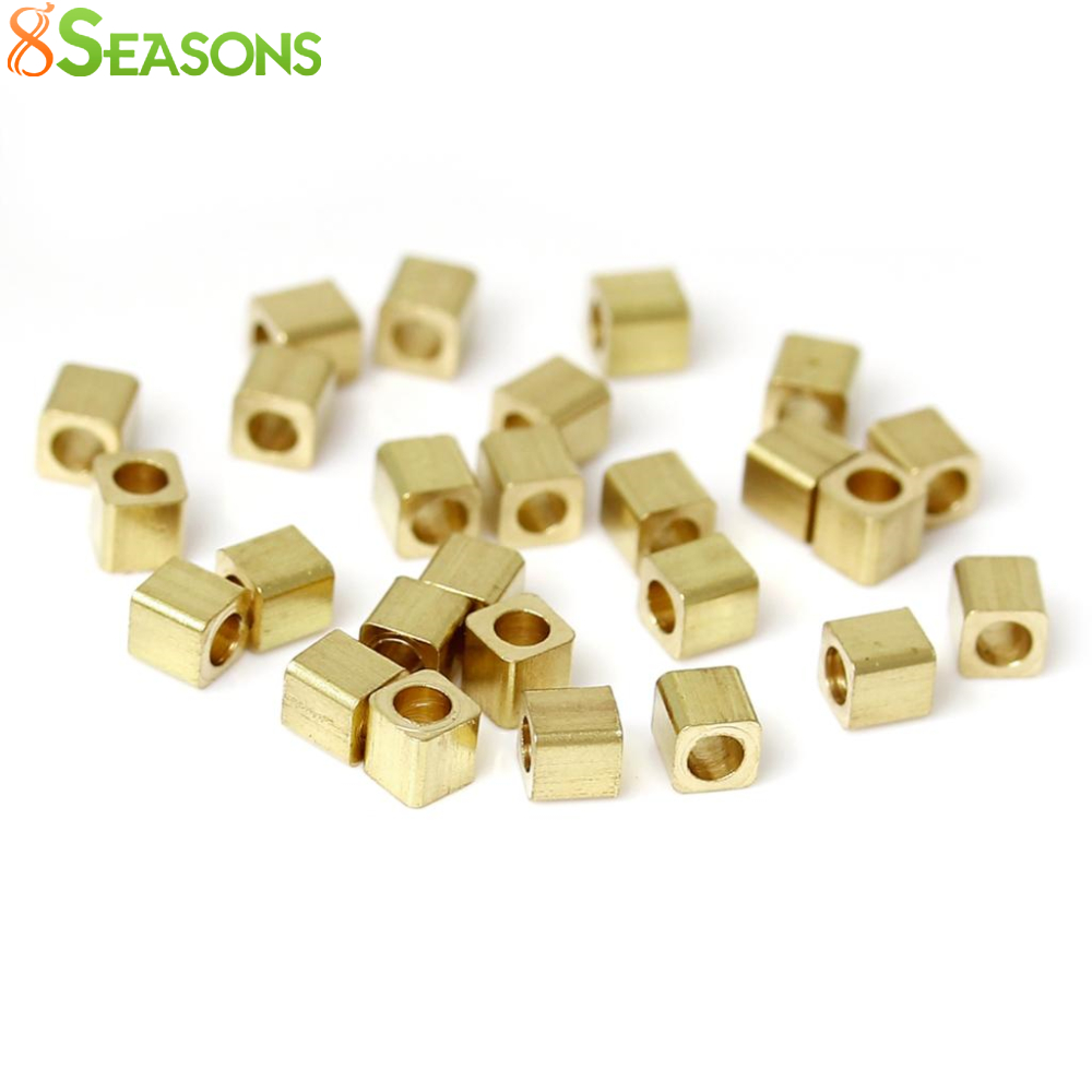 8SEASONS Copper Seed Beads Square Light golden About 2mm x 2.0m,Hole: Approx 1mm, 500 Pcs 2016 new