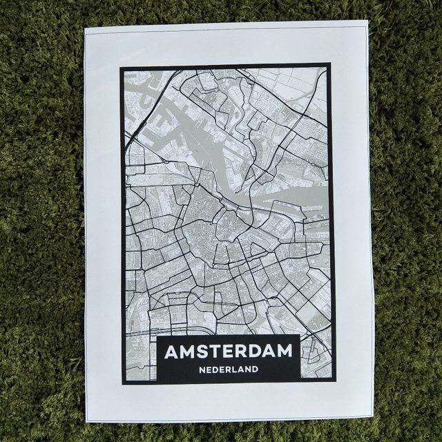Online shop xdr452b canvas painting wall art picture custom print xdr452b canvas painting wall art picture custom print world amsterdam city art map canvas printing painting home decor frameless gumiabroncs Image collections