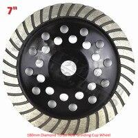 180mm Diamond Turbo Row Cup Wheel For Concrete Masonry Diameter 7 Inch Bore 22 23mm Sintered