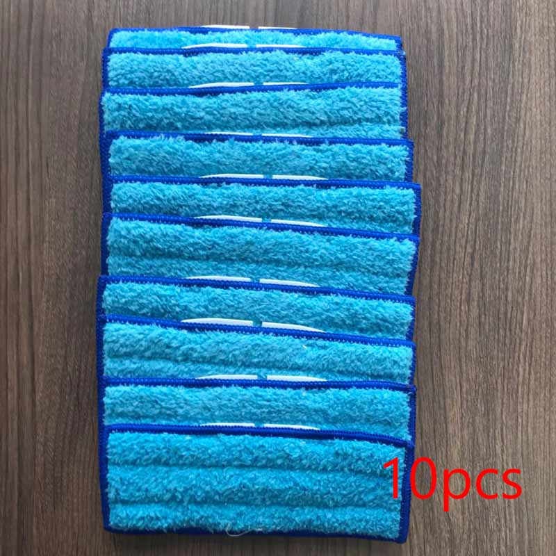 YiJiA 10pcs Robot Cleaner Brushes Spare Parts Damp Pad Mop