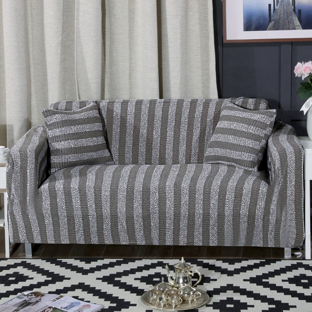 line Shop Knitted Solid Color Stretch Furniture Covers For