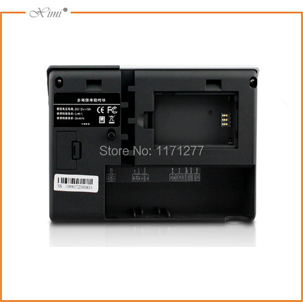 Linux system built in infrared camera GPRS network touch screen door access control system rfid face fingerprint time recorder