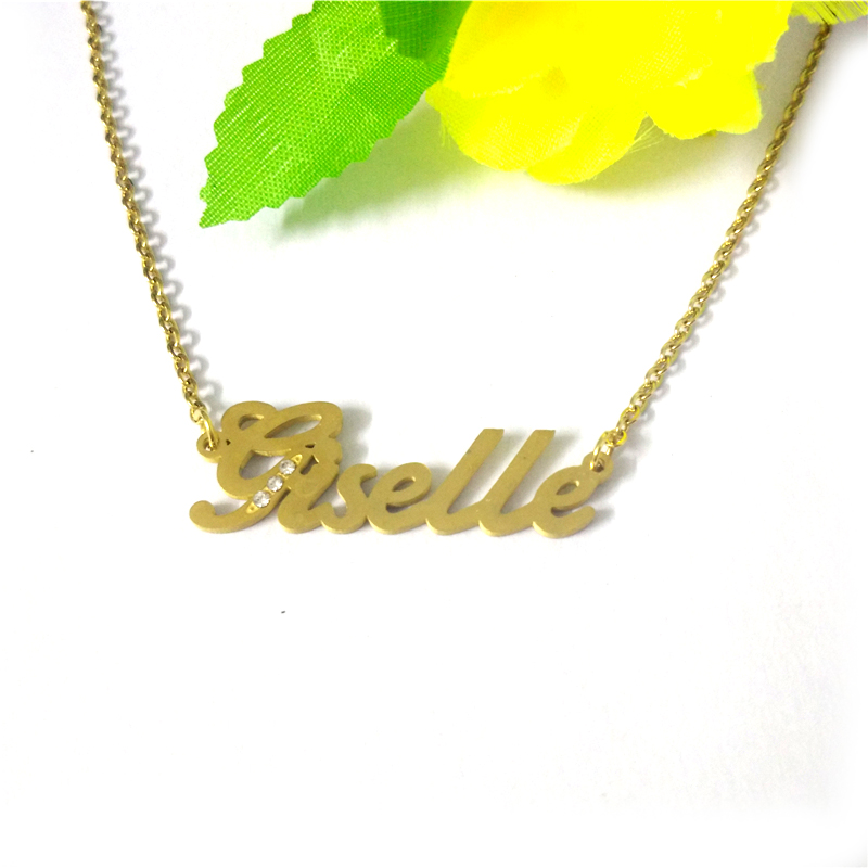 197dd3efd FairLadyHood Any Personalized Name Necklace Stainless Steel Giselle Pendant  Custom Name Necklace Personalized Necklace-in Pendant Necklaces from Jewelry  ...