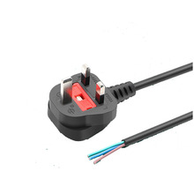 2Pcs 1.8M UK Power Cord Plug 13A With Fuse BS Certification Cable For Computer Mainframe Display