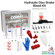 COOMAs Hydraulic Brake BLEED KIT for Universal System, Mineral Oil and DOT Fluid system, Ultimate Kit