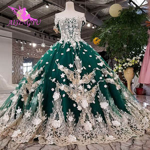 Image 5 - AIJINGYU サテンフリルトリムセクシーなショートドレス格安デザイナーカスタムボール母の花嫁衣装安価なウェディングドレス