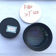 DIY 1080 P LCD HD проектор объектив проектора комплект F260mm стекло объектива для HD проекции ЖК-дисплей 7/7. 6/8/8. 9/9. 7 дюймов