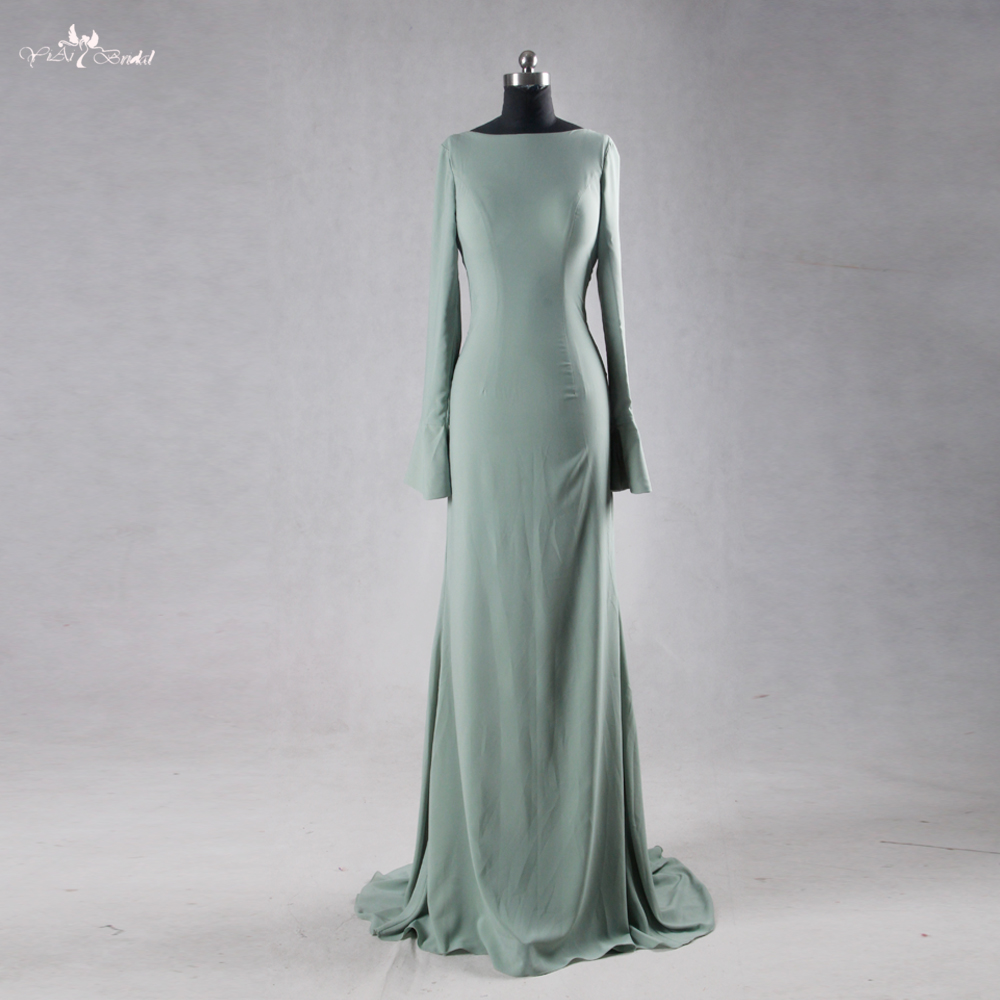d2fa04febb1c5 RSE717 الأخضر عارية الذراعين مثير كم طويل فستان السهرة - a815