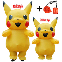 2019 NEW Inflatable Pikachu costumes Cosplay Carnival Pokemon Costumes Halloween costumes for Kids Adults Men Women Girls mascot