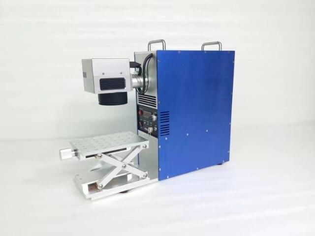 20w Portable Mini Fiber métallique Laser Machine de marquage bijoux gravure en acier inoxydable or argent anneau pedant CNC sculpture