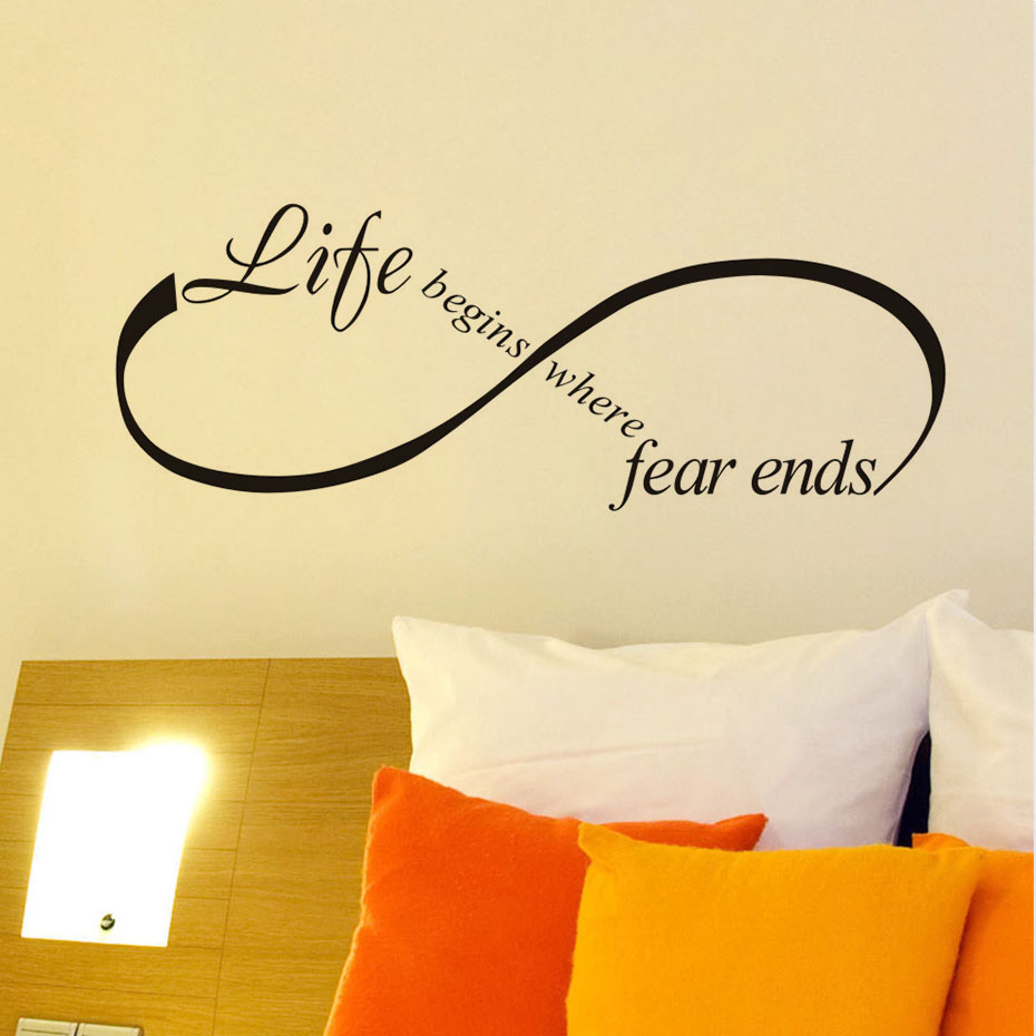 Life Begins Where Fear Ends Art Design Vinyl Lettering Quotes ...