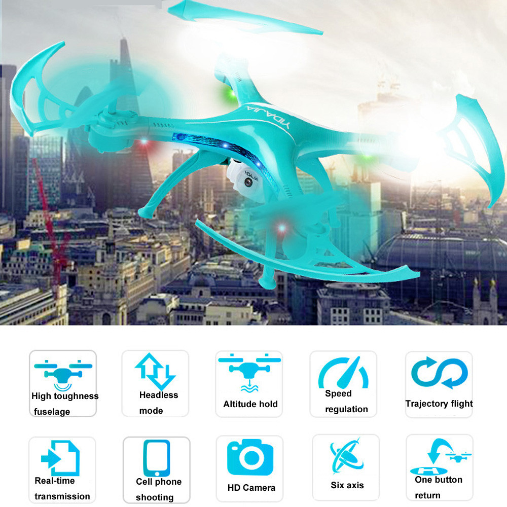 Hiinst D64W Mini Rc Drone with Wifi 0.3MP FPV Camera Altitude Hold Headless Mode RC Helicopter 2.4GHz 4 Channels RC Drone tracker selfie pocket drone altitude hold foldable mini rc quadcopter wifi camera helicopter headless