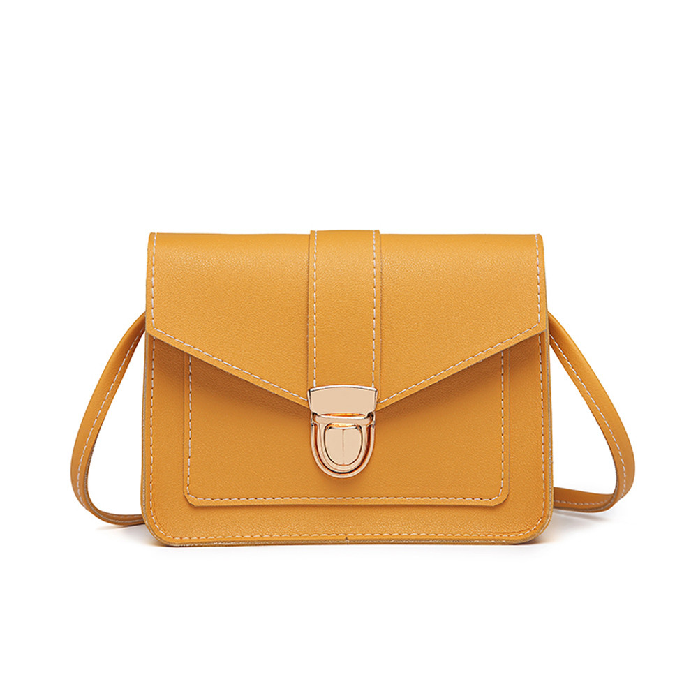 Crossbody-Bags Messenger-Bag Phone Purse Shoulder Small Yellow Mini Women Ladies