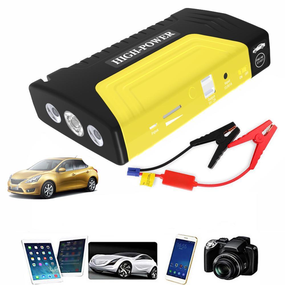 Portable 12 V voiture Jumper démarreur batterie externe démarrage automatique voiture démarrage d'urgence puissance
