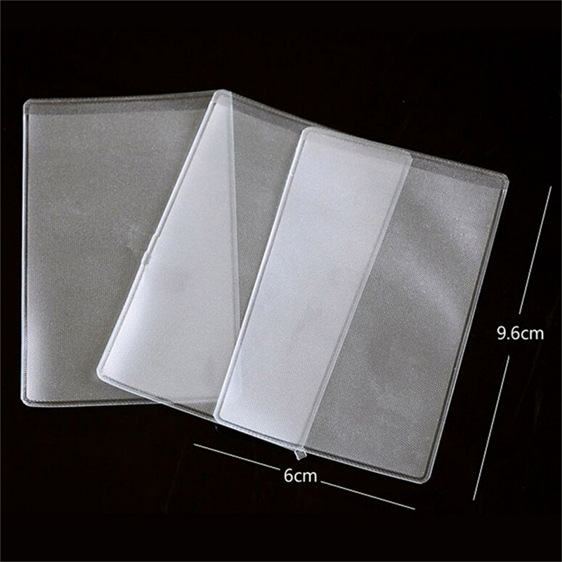 Office & School Supplies Card Holder & Note Holder Aggressive 10pcs 9.6*6cmtransparent Frosted Pvc Business Id Cards Note Covers Holder Cases Travel Ticket Holders Waterproof Protect Bags Less Expensive