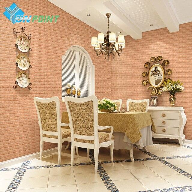 PE Foam 3D Wall Stickers Safty Home Decor White Wall Paper Roll DIY Wall  Decor Brick Living Room Kids Bedroom Decorative Sticker