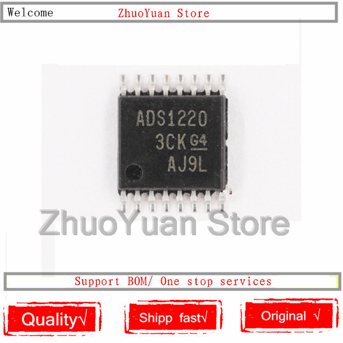 10PCS/lot ADS1220IPWR ADS1220IPW ADS1220 TSSOP-16 New Original IC Chip