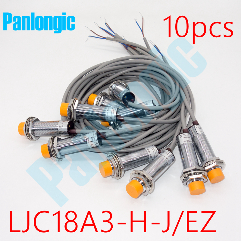 где купить Panlongic 10PCS High Quality LJC18A3-H-J/EZ Capacitance Proximity Sensor Switch AC 90-250V 2-wire NO Normally Open Free Shipping дешево
