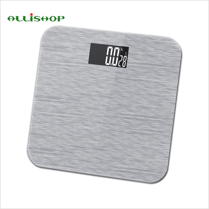 Alli High Quality Luxury Bathroom Scales Pattern Digital Balance With Temperature Bmi Difference Comparison 180kg 400lb In From Home