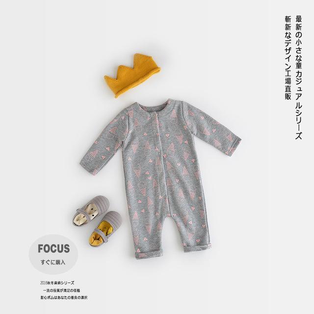 Ropa de bebé Rompers100 % Algodón 2016 Otoño Nuevo Producto Newborn Baby Girl Boy Ropa Infantil de Manga Larga Buzos