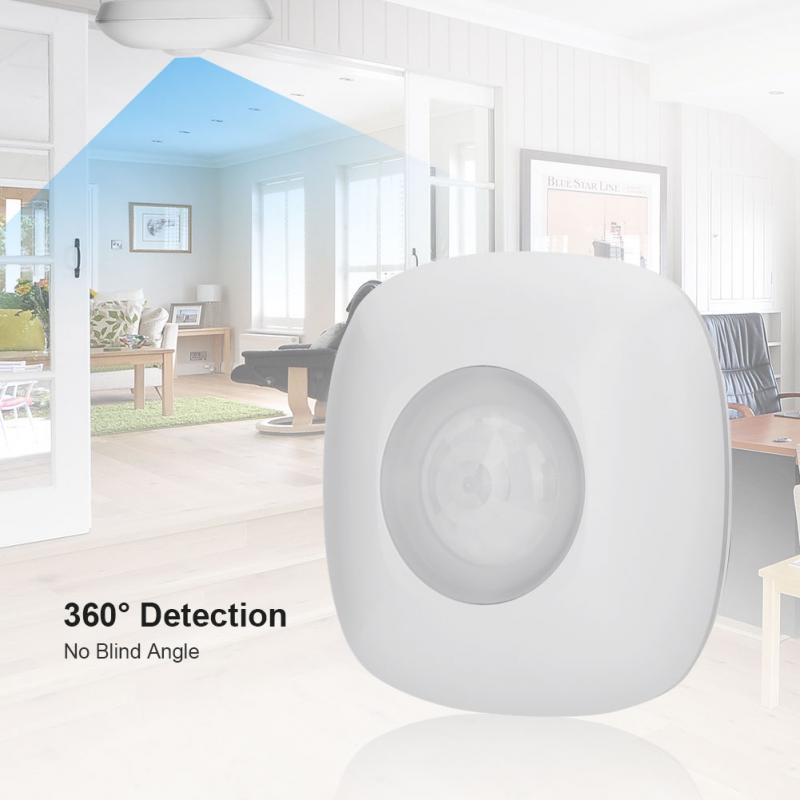 Z-Wave Sensor High Sensitivity 7yd Diameter 360 Degree 868.4MHz Multi-pulse Ceiling PIR Sensor