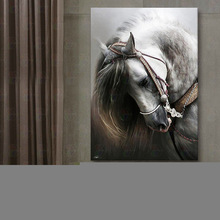 Diy Diamond Painting White horse diamond embroidery  picture with round mosaic cross-stitch kits animal decoration