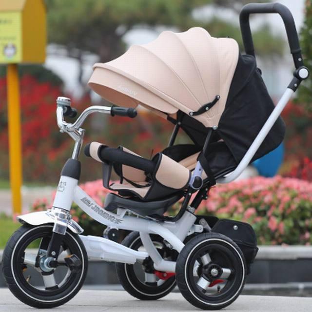 2017 recién llegado de alta calidad triciclo Niño de coche de bebé cochecito de bebé ajuste el asiento puede mentir sueño de bicicletas para niños 3 meses-6 años