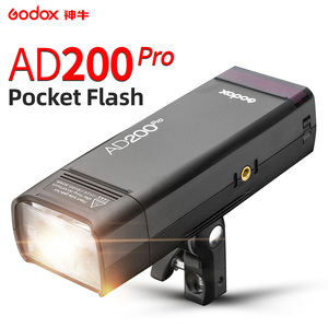 Godox AD200Pro TTL 1/8000 HSS with Built in 2.4G Wireless X System Outdoor Flash Light with 2900mAh Lithimu Battery|Flashes| |  -