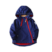 Waterproof Fashion Hooded Cotton Child Coat Baby Girls Boys Jackets Printed Polar Fleece Children Outerwear For 2 9 Years Old