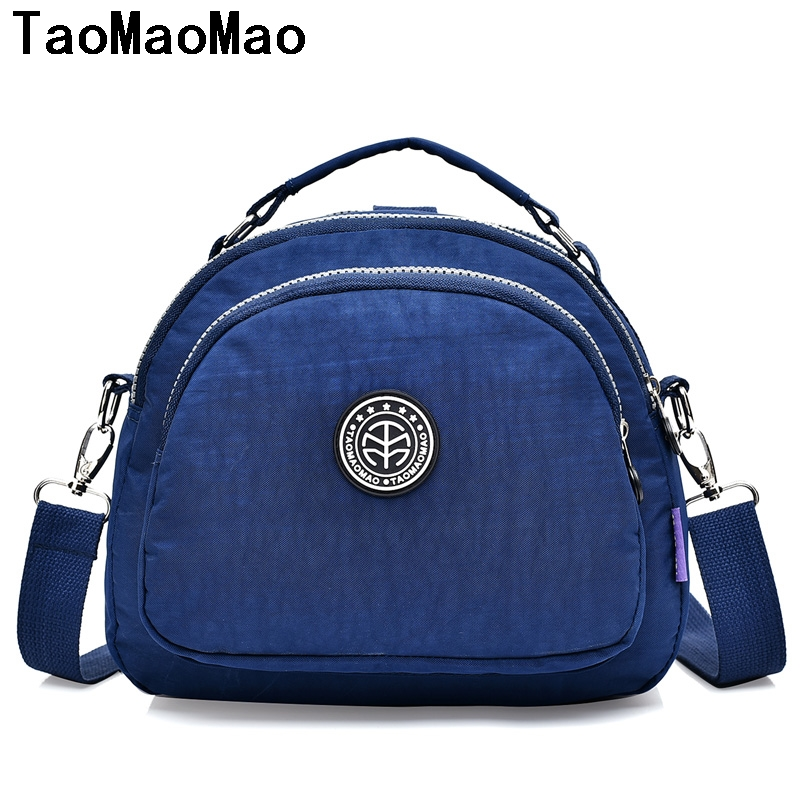 Fashion Nylon Ladies Tote School Bag Handbag Solid Waterproof Messenger Bag Female Casual Women Crossbody Bags