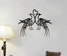 Top Couple Peafowl Fall In Love Wall Decor Stickers Creative Heart Wallpapers Islamic Decoration For Walls