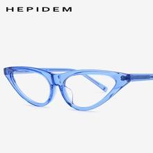 Acetate Cat Eye Eyeglasses Frame Women Brand Designer Myopia Optical Prescription Glasses Transparent Spectacles Eyewear 9115