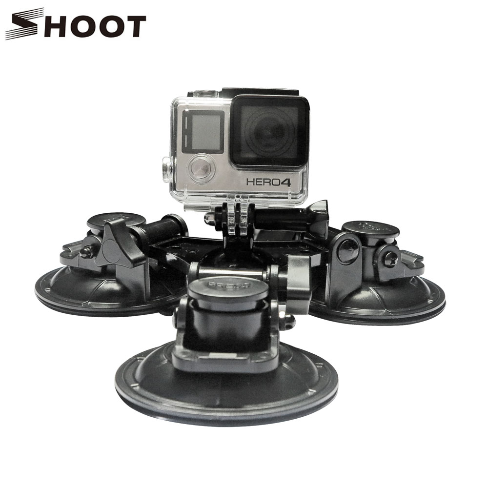 SHOOT <font><b>Strong</b></font> Low Angle Removable <font><b>Suction</b></font> <font><b>Cup</b></font> Mount for GoPro Hero 5 4 3 3+ Session SJCAM SJ4000 SJ5000 Xiaomi Yi 2 4K Camera