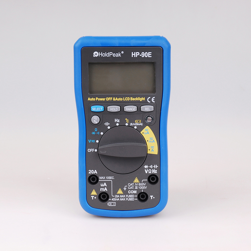 HoldPeak Digital Multimeter HP-90E Auto Range Digital Multimeter DMM CapHZ Temperature Meter Battery Tester w/Auto LCD Backlight hp 90b hp90b auto range digital multimeter digital avo meter