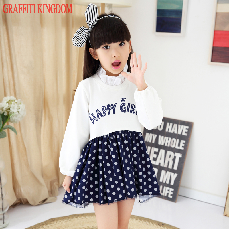 Girls fashion boutique dress New Arrival 2017 Spring and Autumn baby girls princess dress children teenage clothing high quality princess girls dress 2017 new fashion spring