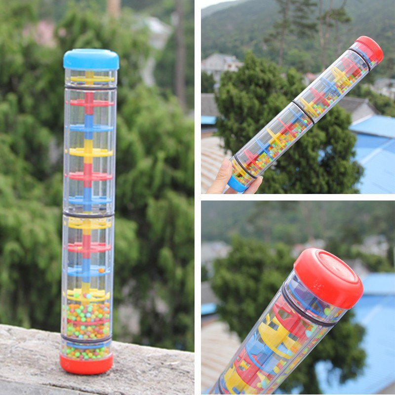 3 розмір дитячого брязкальця дощ звукові іграшки / Orff музика інструментальна Rainmaker Шейкер Діти Дитина раннього навчання освітні іграшки handbell