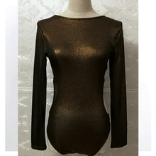 hollow out waist long sleeve round neck top